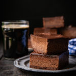 Chocolate Murder Beer Cheesecake Bars