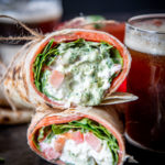 Burrata Burrito with Smoked Salmon and Creamy Beer Pesto
