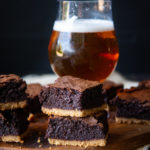 Mexican Hot Chocolate Beer Brownies with Churro Crust