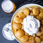 Beer Caramelized Apple Tarte Tatin with Maple Whipped Cream