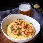 Southern Style Barbecue Beer Shrimp and Grits