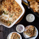 Wild Mushroom Gruyere Asparagus Beer Casserole With Fried Shallots