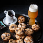 Salted Espresso Beer Chocolate Chip Muffins