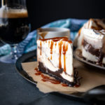 Chocolate Stout Salted Caramel and Peanut Butter Cup Ice Cream Pie