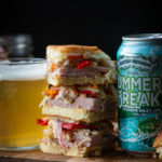 Cuban Sandwich Sliders with Beer Pickled Peppers and Onions
