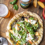 The Bend Ale Trail and a recipe for Grilled Beer Crust Pizza with Peaches, Burrata, and Pesto