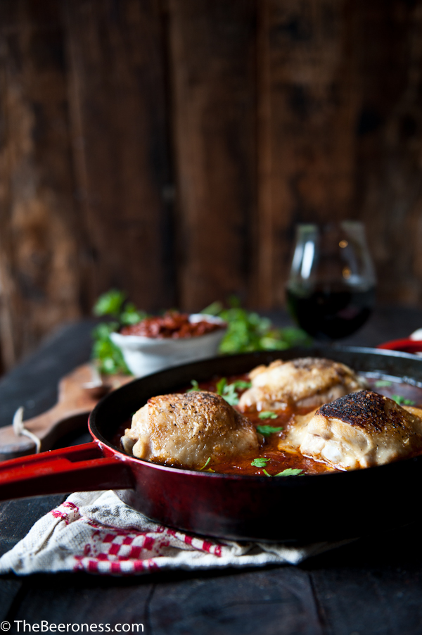 Stout Harissa Chicken Thighs