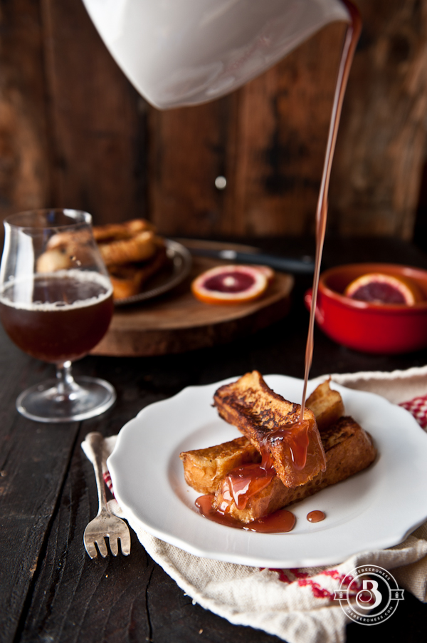 Drunk French Toast Sticks with Beer Blood Orange Syrup2