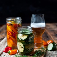 IPA Pickles and Pickled Sweet Peppers