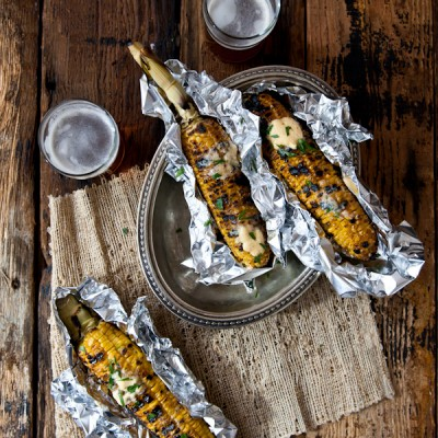 Sriracha Beer Butter Grilled Corn