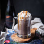 Spiked Hot Chocolate with Salted Caramel Whipped Cream