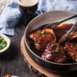 Baked Asian Beer Barbecue Chicken Thighs