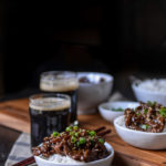Sweet and Sticky Garlic Stout Beef