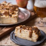 Invisible Apple Cake with Beer Caramel Sauce