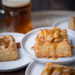10 Minute Pale Ale Puff Pastry + Beer Caramel Apple Tartlets