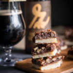 Chocolate Porter Pecan Bars with Beer Candied Bacon