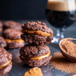 Chocolate Stout Cookies with Salted Dulce De Leche Filling (pressure cooker or stove top)