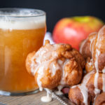 Beer Apple Fritters with Vanilla Maple Glaze