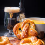Beer Soft Pretzels with Guinness Cheese Sauce