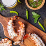 Grilled Beer Butter Lobster Tails with Thai Chimichurri