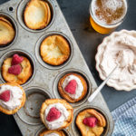 Miniature Dutch Baby Oven Beer Pancakes with Nutella Whipped Cream