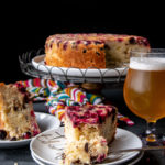 Cranberry Chocolate Chip Hazelnut Upside Down Beer Cake