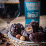Chocolate Stout Covered Dates Stuffed with Dulce de Leche and Toasted Hazelnut