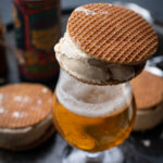 Salted Beer Caramel and Stroopwafel Ice Cream Sandwiches