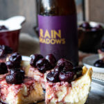Brie Cheesecake Bars with Sour Ale Roasted Cherries